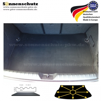 KOFFERRAUMMATTE BMW 3er Touring (Basis) E91 09.2005-08.2012 RILLENGUMMI