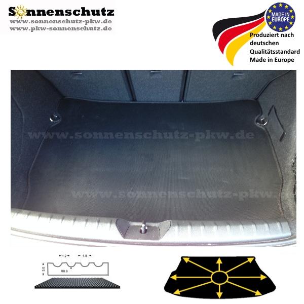 Kofferraummatte passend für BMW F23 2er Cabrio Laderaummatte Naht rot blau