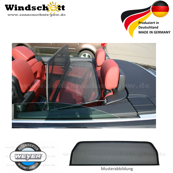 windschott bmw 3er cabrio e93 ab. Black Bedroom Furniture Sets. Home Design Ideas